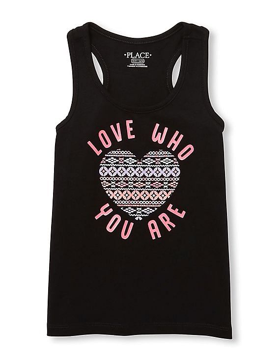 34daa8c638121 the childrens place girls girls matchables sleeveless glitter graphic racer  back tank top