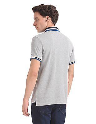 Arrow Sports Regular Fit Heathered Polo Shirt