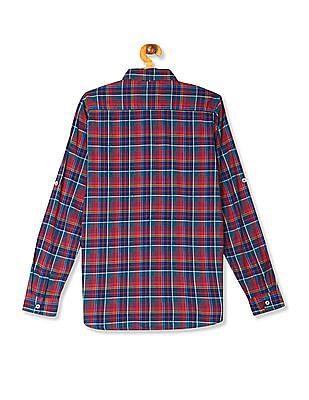 U.S. Polo Assn. Kids Multi Colour Boys Check Cotton Shirt