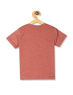 Cherokee Brown Boys Heathered Henley T-Shirt