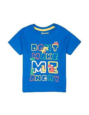 Donuts Boys Printed Regular Fit T-Shirt