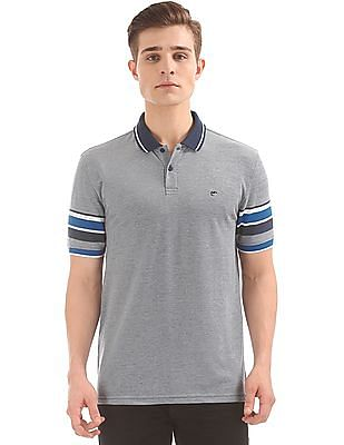 Ruggers Striped Sleeve Tipped Polo Shirt