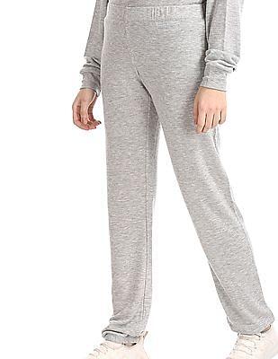 Aeropostale Grey Glitter Embellished Elasticized Pants