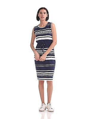 U.S. Polo Assn. Women Sleeveless Stripe Dress