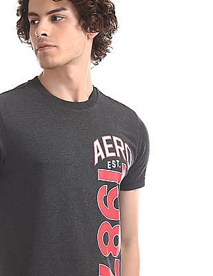 Aeropostale Grey Regular Fit Brand Print T-Shirt