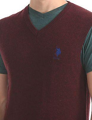 U.S. Polo Assn. Sleeveless Lambswool Sweater