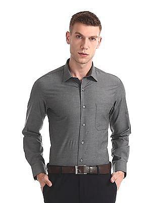 Arrow Patterned Giza Cotton Shirt