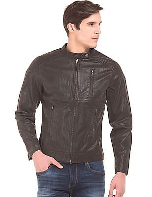 Flying Machine Slim Fit Biker Jacket