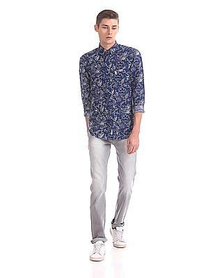 U.S. Polo Assn. Tailored Regular Fit Floral Print Shirt