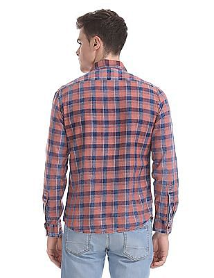 Cherokee Spread Collar Cotton Shirt