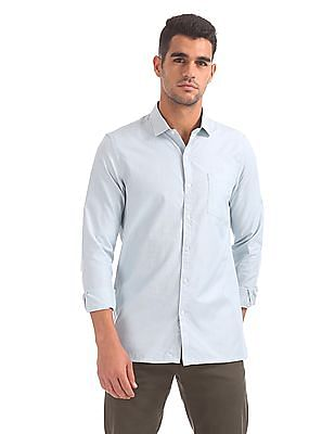 Excalibur Semi Spread Collar Patterned Shirt