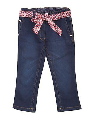 U.S. Polo Assn. Kids Girls Stone Washed Capri Jeans