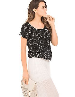 SUGR Star Print Cotton Top
