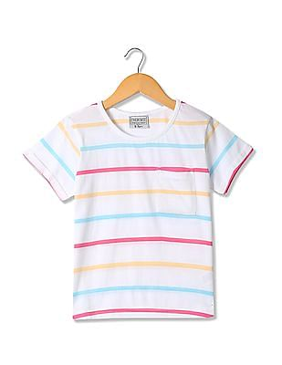 Cherokee Girls Striped Cotton T-Shirt