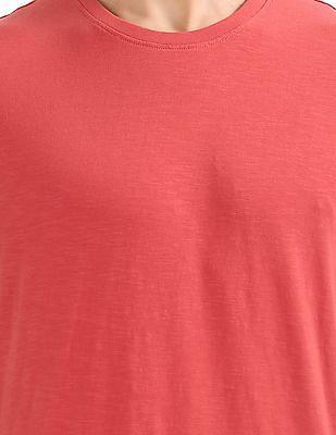 Arrow Sports Crew Neck Slubbed T-Shirt