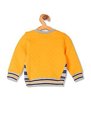 Donuts Boys Crew Neck Quilted Sweatshirt