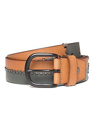 Ed Hardy Studded Colour Block Belt