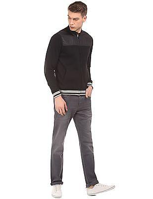 Flying Machine Panelled Zip Up Sweatshirt