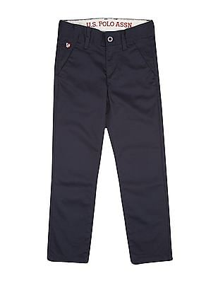 U.S. Polo Assn. Kids Boys Slim Fit Satin Trousers