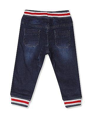 Donuts Blue Boys Drawstring Waist Jogger Jeans
