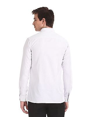Excalibur Semi Cutaway Collar Vertical Stripe Shirt