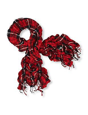 The Children's Place Girls Plaid Bunched Scarf