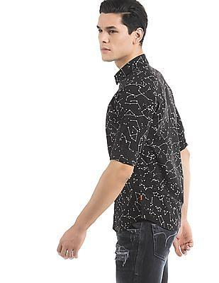 Flying Machine Slim Fit Constellation Print Shirt