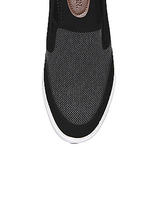 U.S. Polo Assn. Contrast Sole Textured Slip On Shoes