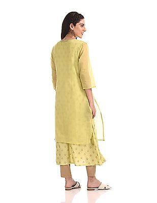 Anahi Embroidered Layered Kurta