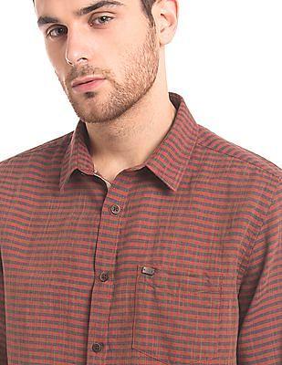 True Blue Check Cotton Linen Shirt
