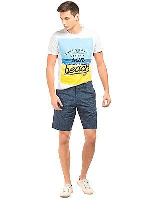 Bayisland Printed Slim Fit Shorts