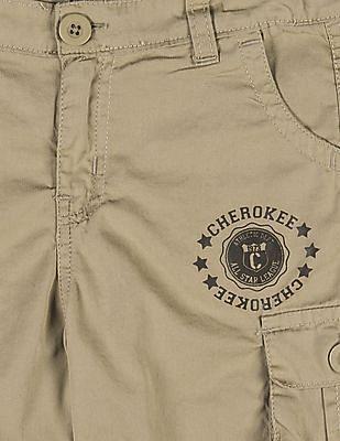 Cherokee Boys Adjustable Waist Cargo 3/4Ths
