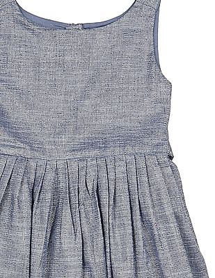 U.S. Polo Assn. Kids Girls Shimmer Fit And Flare Dress