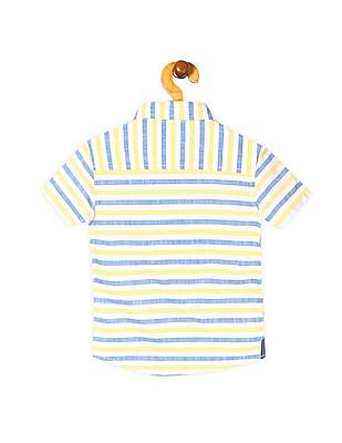 Cherokee Boys Striped Short Sleeve Shirt