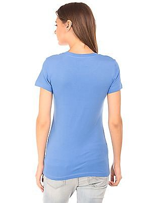 Aeropostale Printed Front Round Neck T-Shirt