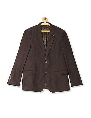 Arrow Body Tailored Regular Fit Linen Blazer