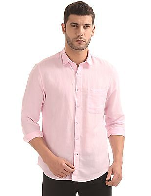 Izod Slim Fit Cotton Linen Shirt