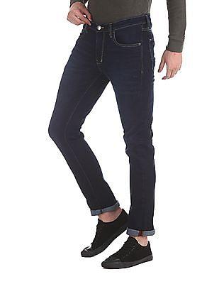 Arrow Sports Blue Dark Wash Mid Rise Jeans