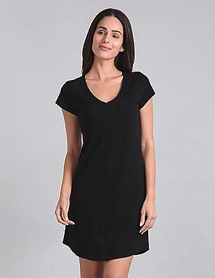 GAP V-Neck T-Shirt Dress