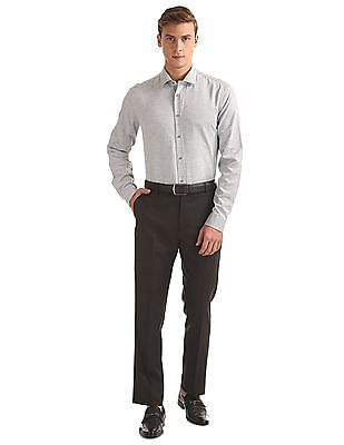 Arrow Newyork Slim Fit Heathered Shirt