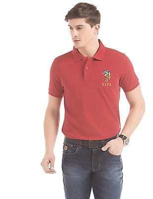 4b5f2505 Buy Men Slim Fit Pique Polo Shirt online at NNNOW.com