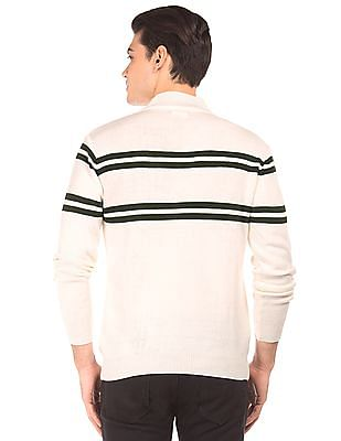 Ruggers Stand Neck Striped Sweater