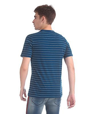 Cherokee V-Neck Stripe T-Shirt