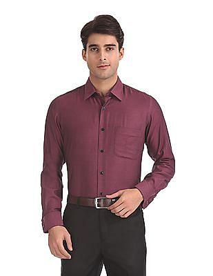Arrow Premium Formal Regular Fit Patterned Weave Shirt