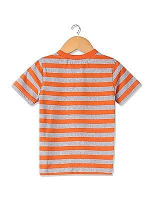 Cherokee Boys Striped Cotton T-Shirt