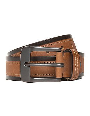 U.S. Polo Assn. Panelled Leather Belt