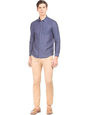 Arrow Sports Slim Fit Cotton Linen Shirt
