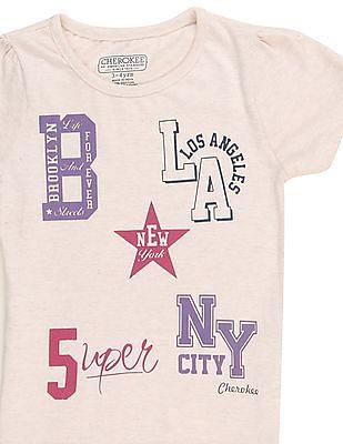 Cherokee Girls Printed T-Shirt