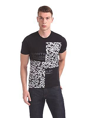 Colt Printed Panel Crew Neck T-Shirt