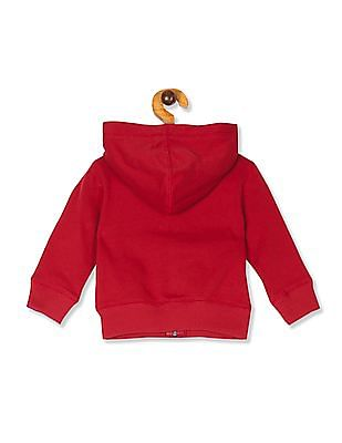 The Children's Place Toddler Boy Red Active Full-Zip Fleece Hoodie